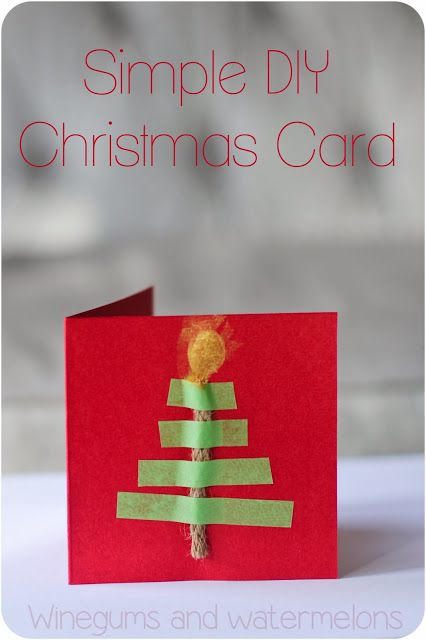 Winegums and Watermelons: Simple DIY Christmas card with washi tape