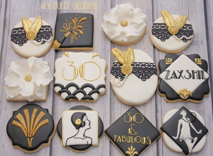 Gatsby Theme 30th Birthday Cookie Connection Cookie