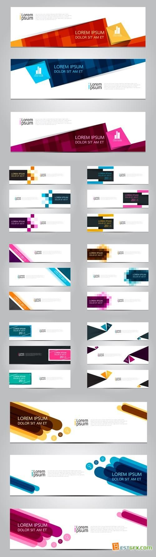 abstract business banners vector
