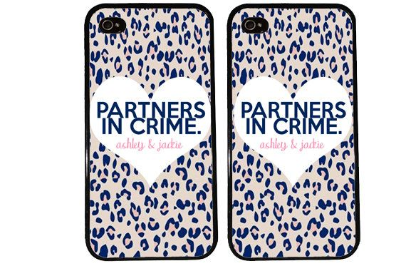 BFF Case / Partners in Crime PERSONALIZED iPhone 4 by KasiaKases