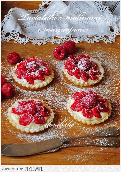 Tartaletki ( babeczki ) z malinami i mascarpone - przep… na Stylowi.pl
