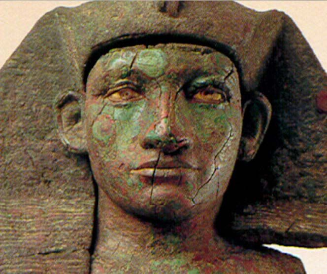 Amenemhet III. copper alloy.  Son of Sesostris III - Brother or father of Sobeknefru who adopted Moses.