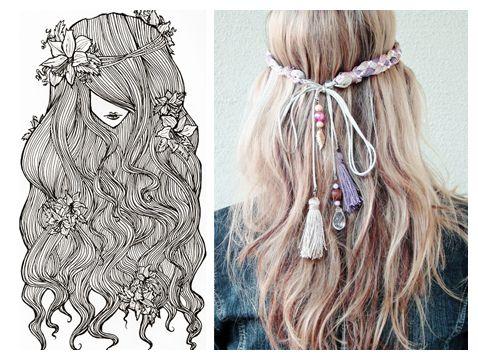 Hippie hairdos