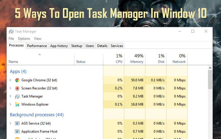 5 Best Ways To Open Task Manager In Windows 10