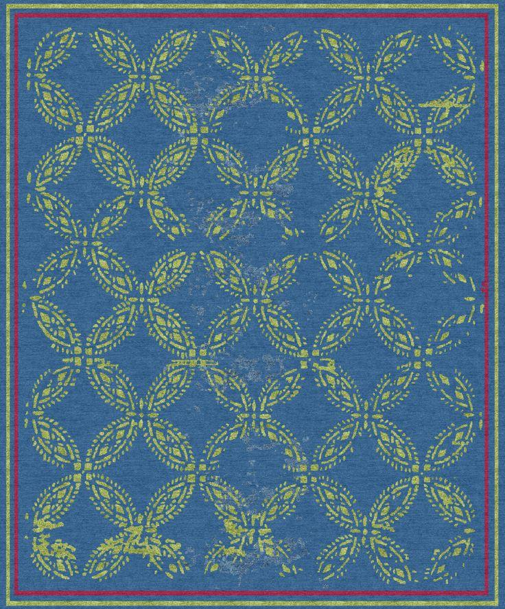 new thoughts on colour - 'Pattern' rug for 2016 from Elizabeth Ashard Ltd www.elizabethashard.com