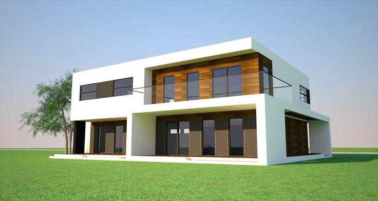 Nowoczesna bryła, nawiązująca do najświeższych trendów w architekturze wygląda bardzo efektownie z każdej strony.