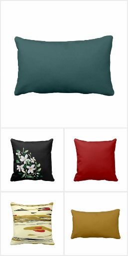 Plain and Patterned Throw Pillows