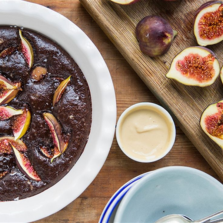 Try this Chocolate Molten Pots with Figs recipe by Chef Jasmine and Melissa Hemsley . This recipe is from the show Hemsley   Hemsley - Healthy