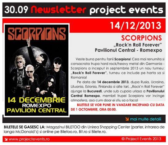 Veste buna pentru fanii Scorpions!