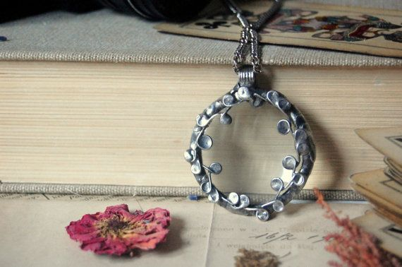 Magnifying glass necklace magnifying glass pendant by VeryMeadow