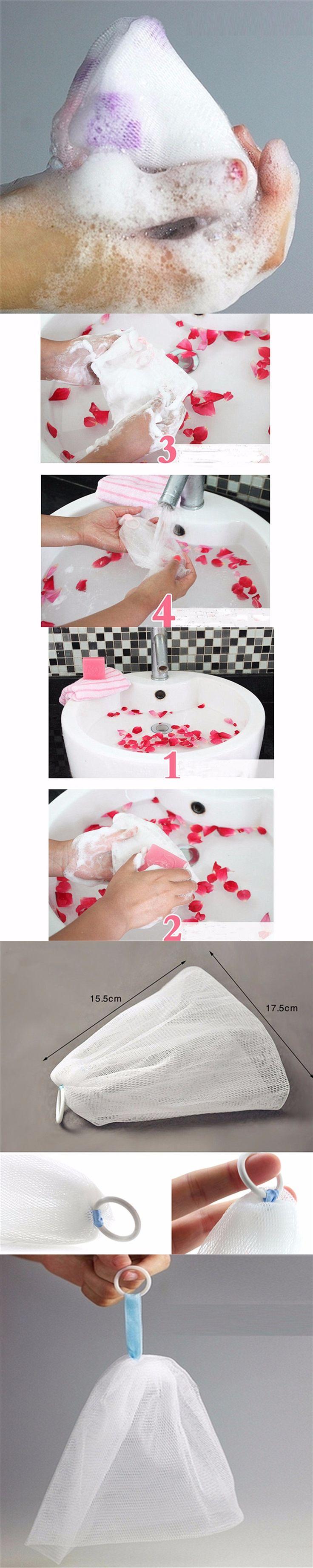 Double-layer Soap Net White Foaming Net Face Washing Bath Skin Care Practical Soap Blister Mesh Soap Net Bath Shower Tools