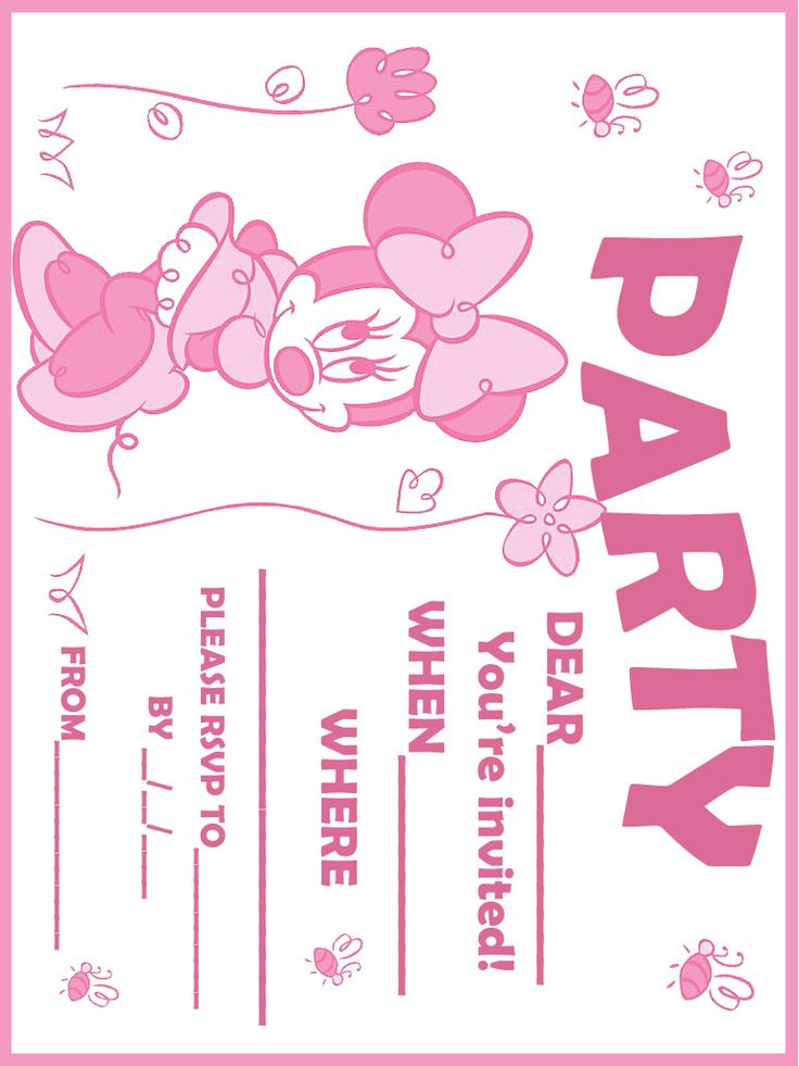 136 best Minnie Mouse Invitations images on Pinterest | Sew ...