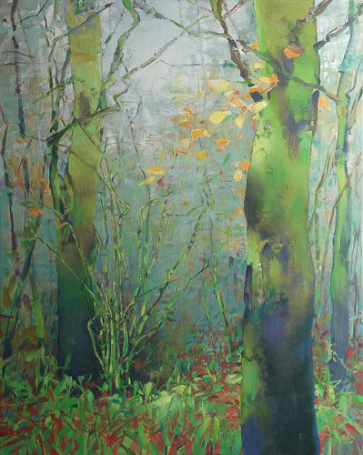 T I thionk that this painting has a mystical feel. I enjoy looking at the water through the trees. Artist: RANDALL DAVID TIPTON, Title: Bryant Wood December; Year: 2012; Medium: Oil/