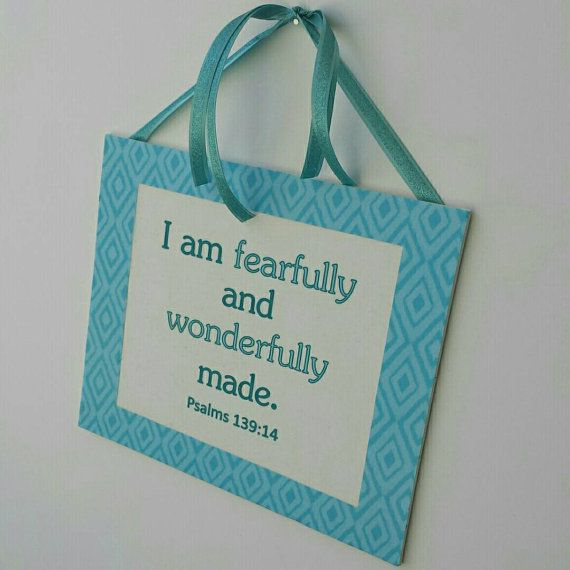 I Am Fearfully and Wonderful Made - Scripture Canvas Art