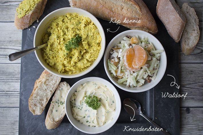 Vrijdag.. het is weekend! Daarom hier heerlijke recepten van salades en kruidenboter voor op het stokbrood bij de film of lunch! Kijk op BonApetit!