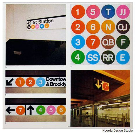 He and a partner made a new look for subway signs New York,1966.