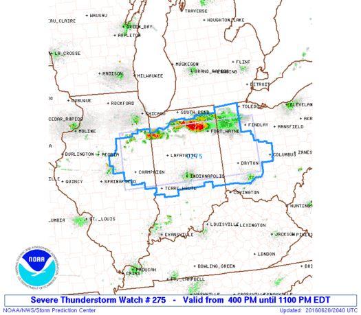 SPC Severe Thunderstorm Watch 275 Status Reports - http://blog.clairepeetz.com/spc-severe-thunderstorm-watch-275-status-reports/