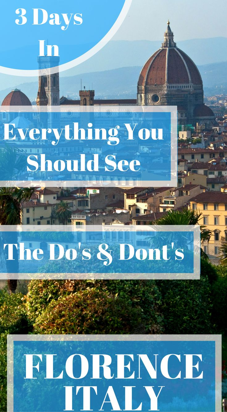 The perfect Florence, Italy Itinerary, The Do's & Dont's , things to do, and endless tips for first time visitors or visitors that have been there before. Click to read 3 Days in Florence – What to do in Florence, Italy. #Florence #Italy #Guide #Itinerary