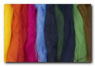 česance merino, barevná vlna, sada vlny k plstění
