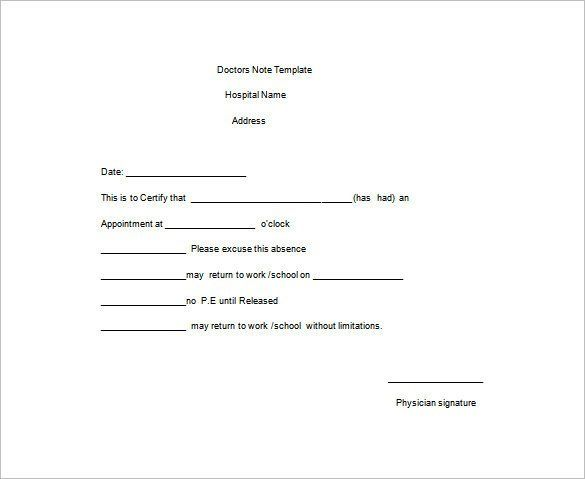 Doctors Note For Work Absence Free Download Doctors Note Template Doctors Note Dr Note For Work
