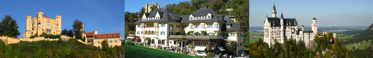 Hotel Muller in Germany, with beautiful views of the famous Neuschwanstein castle that inspired Walt Disney, and the related family Castle Hohenschwangau