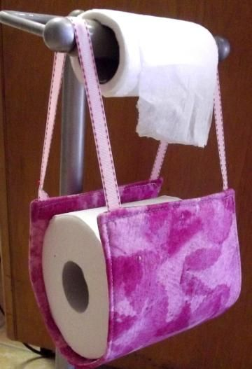 Bathroom Accessory, Toilet Paper Holder, Pink Abstract, Home Décor, Space  Keeper,