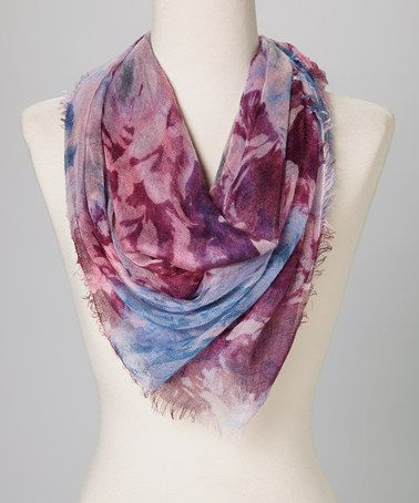 Love this Purple Rock'n Rose Scarf by Betsey Johnson on #zulily! #zulilyfinds