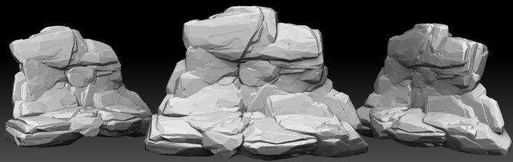 stone 3d sculpt