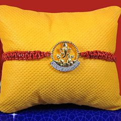 Golden Ganesha Rakhi @ http://www.rakhibazaar.com/rakhi-to-australia-95.html #Rakhibazaar #OnlineRakhi