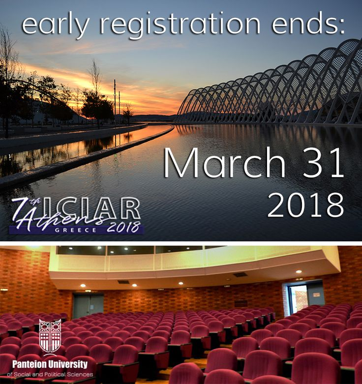 Registration includes full access to all Congress Scientific Sessions, full lunches, 2 daily coffee breaks, Congress bag and badge, Program-Abstract book, and Welcome Reception.   Registration Fee for accompanying persons includes full lunches, coffee breaks, Scientific Sessions, and Welcome Reception. http://isipar2018athens.panteion.gr/index.php/submission-registration/registration
