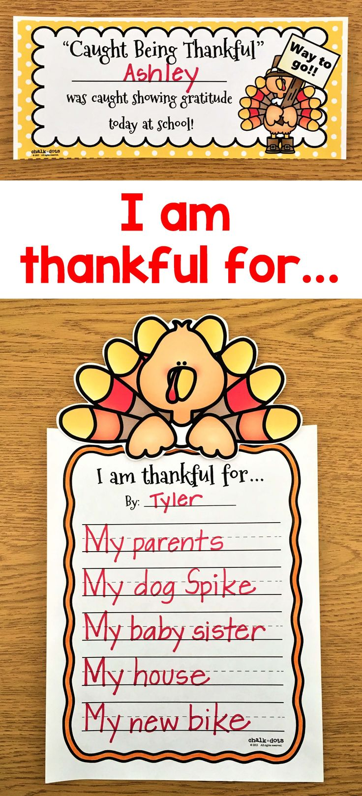 This packet includes various activities to encourage your students to think about all the things they are thankful for and to remind them to show gratitude during the Thanksgiving season!