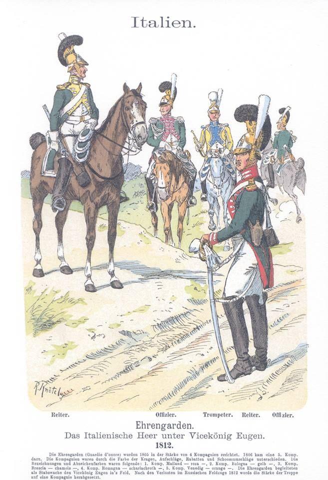 Band III #29.- Italien. Das italienische Heer unter Vice-König Eugen. Ehrengarden. 1812.
