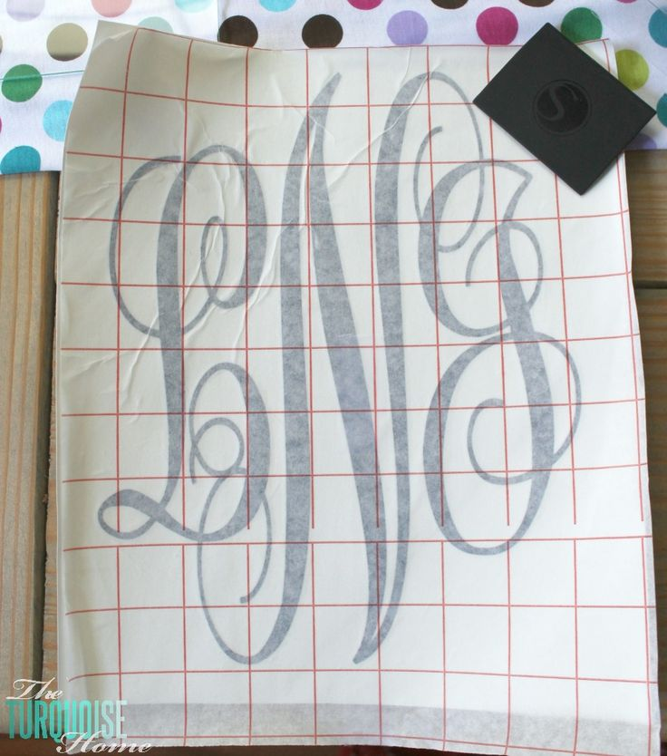 How to Create a Simple Vinyl Monogram {A Silhouette Tutorial for Beginners}