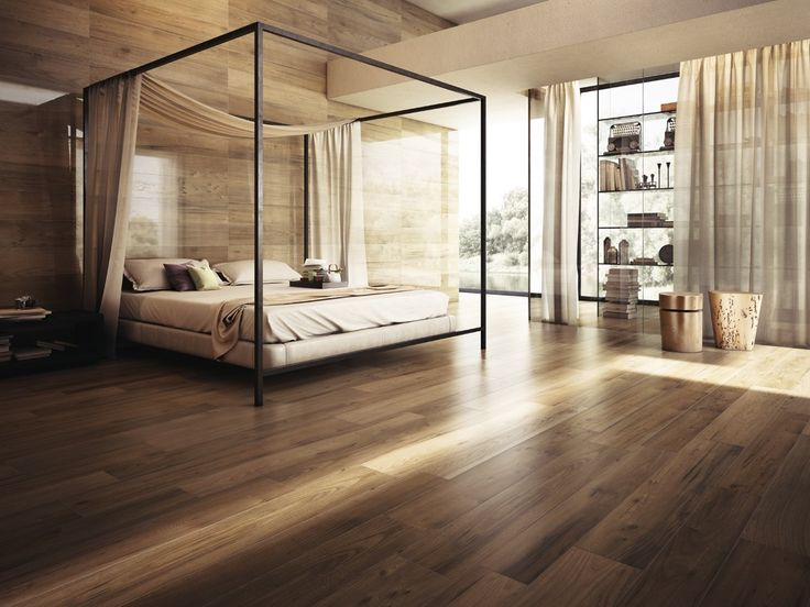 Great example of what can be done with  wood floors and walls...many options are actually wood tiles and similar made from composite/recycled materials.  Cool...