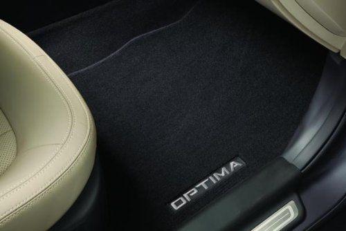 Genuine Kia Accessories 2TF14-AC100VA Black 2-Post Front and Rear Carpet Floor Mat for Select Optima Models