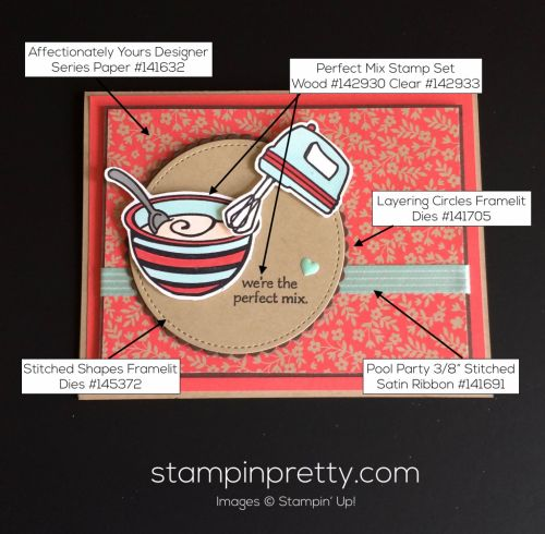 Perfect Mix Just Because Card.  Mary Fish, Stampin' Up! Demonstrator.  1000+ StampinUp & SUO card ideas.  Read more https://stampinpretty.com/2017/04/the-perfect-mix-for-a-just-because-card.html