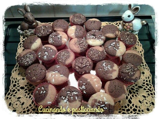 Muffin bicolore www.cucinandoepasticciando.com