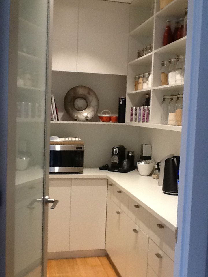 Custom built pantry with lots of storage