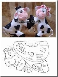 Resultado de imagen para vacas navideñas moldes