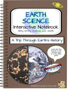 The Earth Science Interactive Notebook: A Trip Through Earths History  chapter showcase students ability to: Explain how fossils form; Identify different types of fossils; Describe how geologists determine the relative age of rocks; Explain how index fossils are useful to geologists; Explain how radioactive dating is useful;Describe different units of Geological Time Scale and how it is usedExplain how Earths features formed over timeDescribe major eras and periods after the Precambrian…