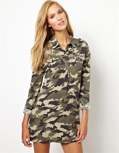 Камуфляжное платье милитари