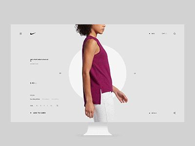 NIKE product page by Anton Skvortsov