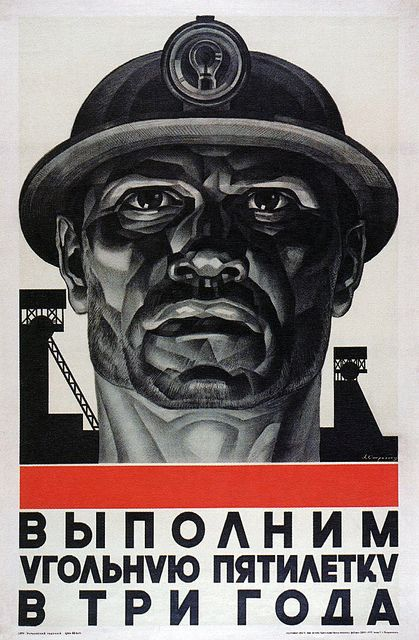 V. Strakhov. Five-year plan for coal in three years. 1931: Three Years, Propaganda Posters, Complete Coal, Picture-Black Posters, Five Years Plans, Three Soviet Posters, Fiveyear Plans, The Plans, 5 Years