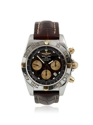 Breitling Men's Chronomat Brown Leather/Stainless Steel Watch