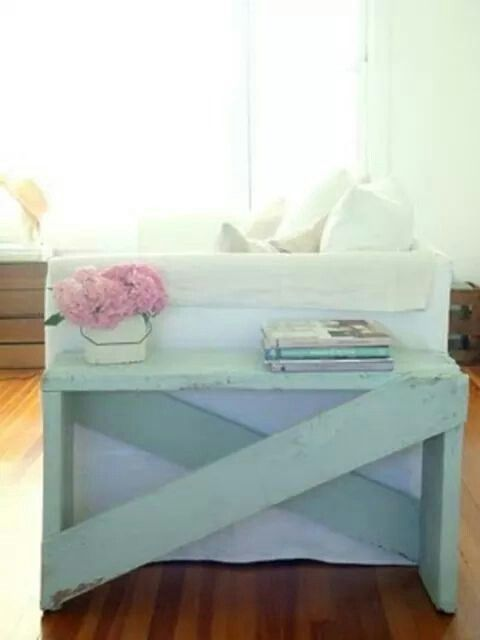 Nice table. Beautiful colour. Possible DIY for near the front door.