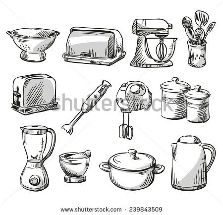 Kitchen Tools Drawings 7 best kitchen utensils images on pinterest | kitchen utensils