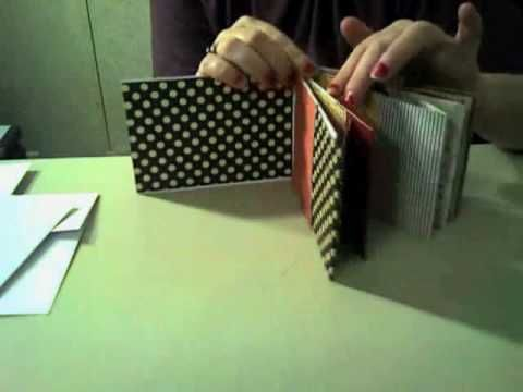 Cute Envelope Mini Album. Excellent instructions for making an envelope album from #10 envies. Wanna do this!