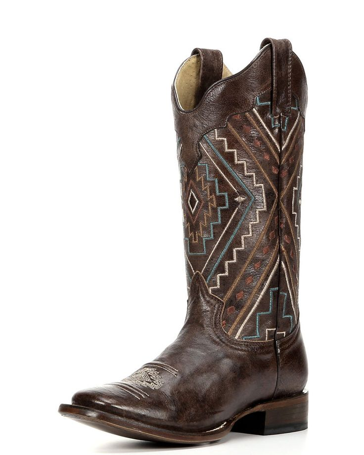 Roper | Women's Southwest Square Toe Boot - Sanded Brown | Country Outfitter