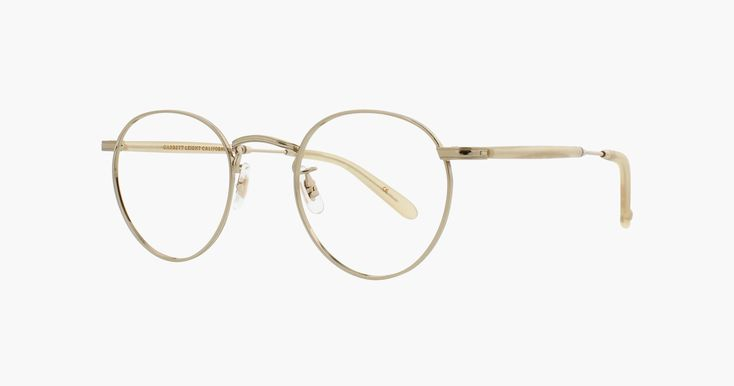 The Wilson M round frames are stripped down metal frames in silver and gold with detailed work and acetate casings on the temples. Free Shipping on US Orders.