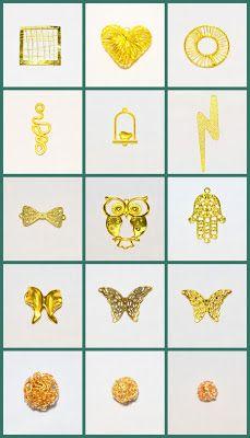 Μεταλλικά Στοιχεία για Faux bijoux & Μπομπονιέρες